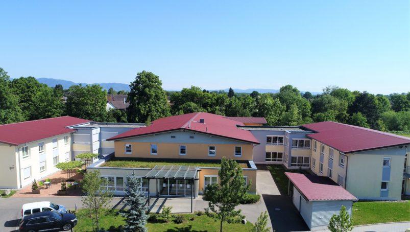 Luftbild Pflegeheim am Pfarrgarten Willstätt